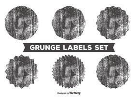 Ensemble d'étiquettes désordonné de grunge vecteur