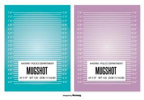 Modèle d'arrière-plan de Mugshot vecteur