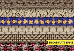 Incas mayans patterns set free vecteur