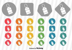 Icône de l'étiquette de prix des vecteurs