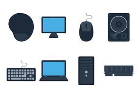 Tapis de souris et ordinateur vecteur