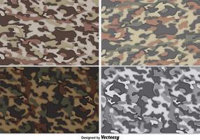 Ensemble de fond de camouflage multicamore vectoriel