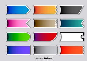 Étiquettes vierges colorées colorées vecteur