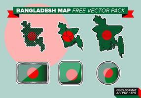 Bangladesh carte pack vecteur gratuit