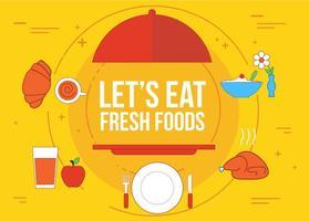 Vecteur gratuit de nourriture fraîche
