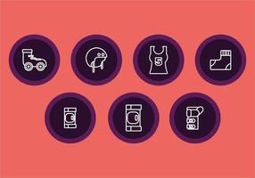 Icônes de lignes roulantes gratuites vecteur
