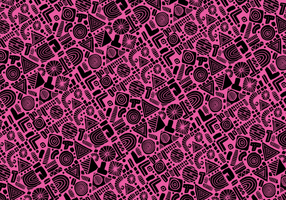 Forme abstraite Pattern Vector Seamless
