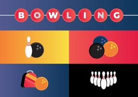 Vecteurs de bowling gratuits vecteur