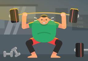 Vector Fat Guy dans la salle de gym