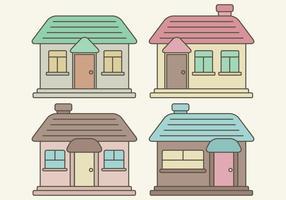 Maisons vectorielles vecteur