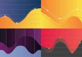 Vecteur de visualisation de courbe de cloche gratuit