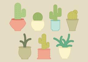Collection de cactus vectoriels vecteur