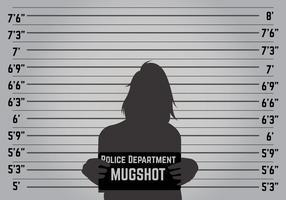 Vecteur de fond Mugshot