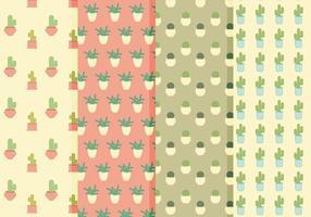 Patterns de cactus vectoriels vecteur