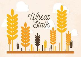 Vecteur de tiges de blé libre