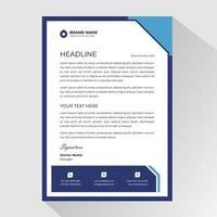 papier à en-tête blanc avec cadre bleu vecteur