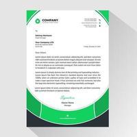 papier à en-tête d'affaires avec style cadre arrondi vert