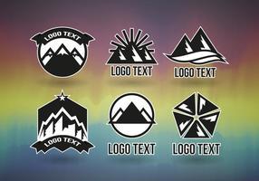 Montains logotipos vecteur professionnel gratuit