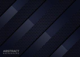 Résumé noir diagonale se chevauchant modèle de luxe de papier plié