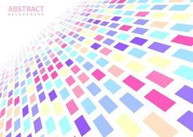 formes de perspective abstraites pastel géométriques fanées vecteur