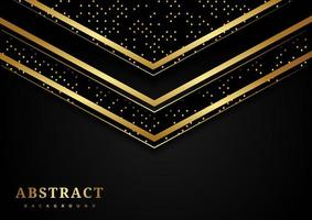 triangle géométrique abstrait or chevauchant fond de luxe