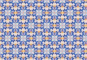 Motif de carreaux floraux vecteur
