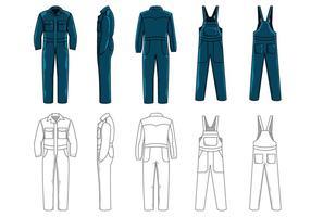 Vêtements de travail vectoriel pour la sécurité au travail