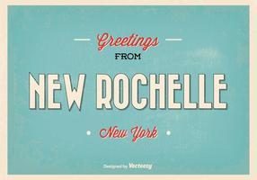 Nouvelle rochelle new york greeting illustration vecteur