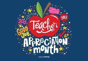 Mois du vecteur du mois d'appréciation des enseignants