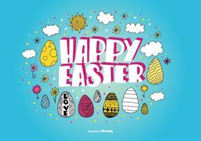 Des vecteurs d'oeufs de Pâques dessinés à la main