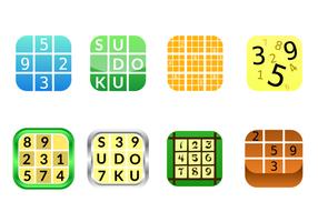 Icône d'icône gratuite de l'application Sudoku vecteur