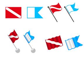 Vecteur de drapeau de plongée gratuit