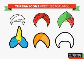 Icône Turban Free Vector Pack
