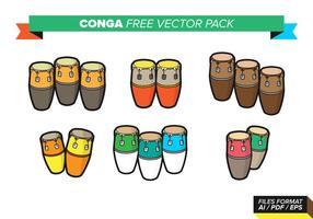 Pack gratuit de vecteurs conga vecteur