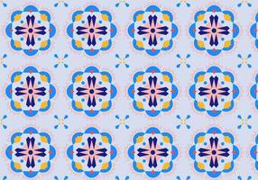 Motif de mosaïque florale vecteur