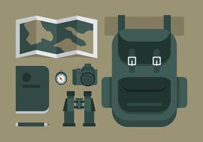 Équipements d'aventure vectorielle vecteur
