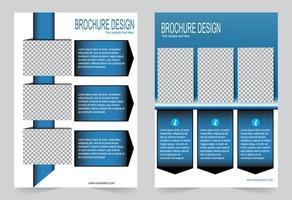 couverture bleue avec espace image. vecteur