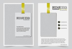 modèle de conception de couverture flyer blanc. vecteur