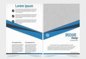 modèle de brochure bleu et blanc