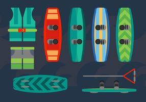 Vecteurs de conception de wakeboard gratuits