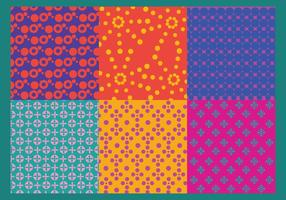 Vecteurs de motif de points colorés