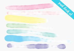 Set d'aquarelle coloré vecteur