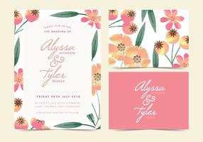 Invitation de vecteur de fleurs sauvages