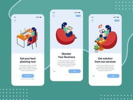 intégration de l'écran d'application mobile d'entreprise