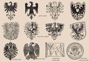 Eagles historiques vecteur