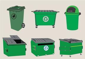 Vector des unités de benne à ordures