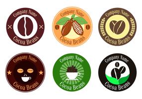 Vecteur gratuit de fèves de cacao