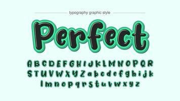 marqueur noir avec typographie de dessin animé de trait vert vif vecteur