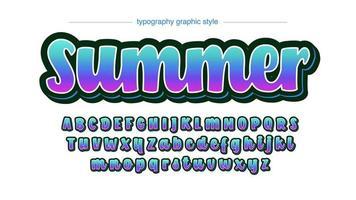 police artistique de calligraphie colorée néon