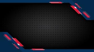 formes d'angle bleu et rouge sur la texture de la grille vecteur